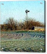 Oklahoma Farm In Winter Acrylic Print