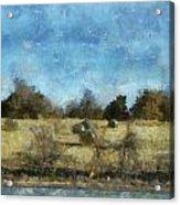 Oklahoma Hay Rolls Photo Art 02 Acrylic Print