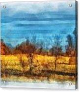 Oklahoma Hay Rolls Photo Art 03 Acrylic Print