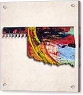 Oklahoma Map Art - Painted Map Of Oklahoma Acrylic Print