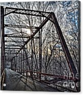 Ol' Iron Bridge Of Dark Hallow Acrylic Print