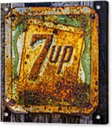 Old 7 Up Sign Acrylic Print
