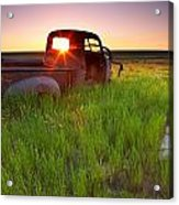 Old Abandoned Pick-up Truck Sitting In Acrylic Print