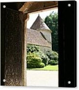 Old Abbey Church Door - Abbey Fontenay Acrylic Print