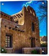 Old Adobe Building Santa Fe New Mexico Acrylic Print
