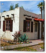 Old Adobe Cottage Acrylic Print by Brian Lambert