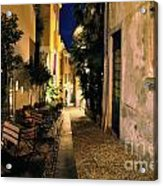 Old Alley At Night Acrylic Print