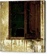 Old And Decrepit Window Acrylic Print