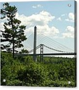Old And New Bridges Over Penobscot Acrylic Print