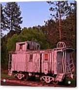 Old And Weathered Caboose Acrylic Print
