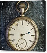 Old Antique Pocket Watch Acrylic Print