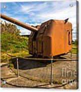 Old Artillery Gun - Ft. Stevens - Oregon Acrylic Print