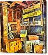 Old Baggage Claim Acrylic Print