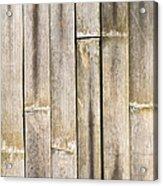 Old Bamboo Fence Acrylic Print