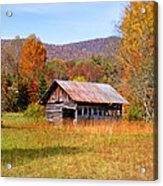Old Barn Along Slick Fisher Road Acrylic Print