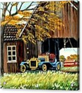 Old Barn and Old Car Acrylic Print
