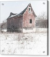 Old Barn - Brokeback Shack Acrylic Print by Gary Heller