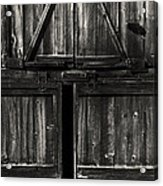 Old Barn Door - Bw Acrylic Print by Paul W Faust -  Impressions of Light