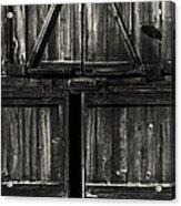 Old Barn Door - Bw Acrylic Print