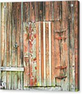 Old Barn Door Acrylic Print