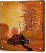 Old Barn In Autumn Acrylic Print