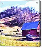 Old Barn In November Filtered Acrylic Print