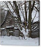 Old Barn In Winter Acrylic Print