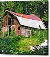 Old Barn Near Chimney Rock Acrylic Print