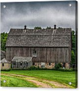 Old Barn On A Stormy Day Acrylic Print