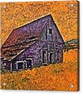 Old Barn Orange Acrylic Print