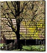 Old Barn Acrylic Print by Ron Sanford