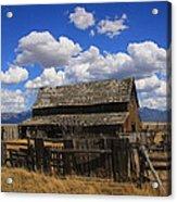 Old Barn Rush Valley Acrylic Print