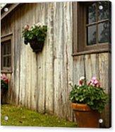 Old Barn Side Acrylic Print