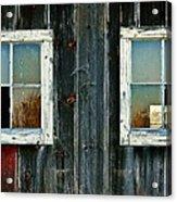 Old Barn Windows Acrylic Print