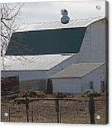 Old Barn With New Roof Acrylic Print