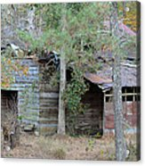 Old Barn With Side Shed Acrylic Print