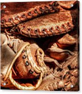 Old Baseball Gloves Acrylic Print