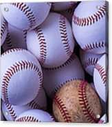 Old Baseball With New Ones Acrylic Print