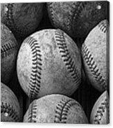 Old Baseballs Acrylic Print by Garry Gay