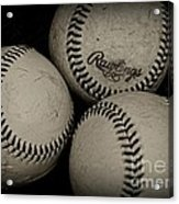 Old Baseballs Acrylic Print