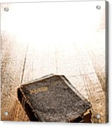 Old Bible In Divine Light Acrylic Print
