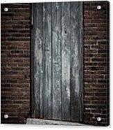 Old Blacksmith Shop Door Acrylic Print