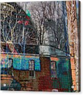 Old Bleach And Dye Works Right Acrylic Print