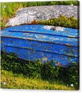 Old Blue Boat Acrylic Print