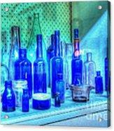 Old Blue Bottles Acrylic Print