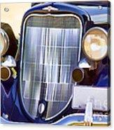 Old Blue Car Acrylic Print