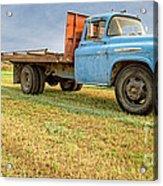 Old Blue Farm Truck Acrylic Print
