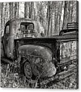 Old Blue In Sepia Acrylic Print