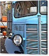 Old Blue Jalopy Truck Acrylic Print