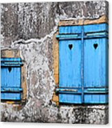 Old Blue Shutters Acrylic Print